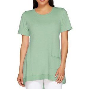 LOGO French Terry Knit Top with Pocket 1172